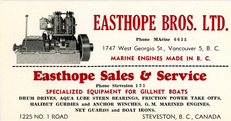 Easthope business card